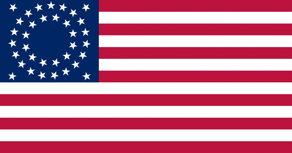 A 35-star version of the US Flag